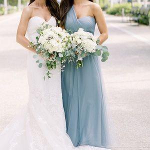 Jenny Yoo Mayan Blue Annabelle convertible dress